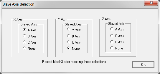 Slave Axis selection